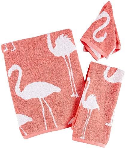 Towels Bath Flamingo - Panama Jack Flamingo Jacquard Bath Towel Collection Bath Towel Pink/White