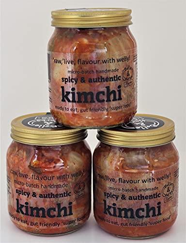 3 x Kimchi Bundel voor £15 Inclusief levering. Authentieke Recept (Non-Vegan) Small Batch, Live, raw & unpasteurised.