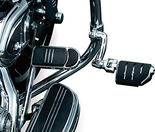 Highway Clamp - Kuryakyn 7555 Motorcycle Foot Controls: Longhorn Offset Trident Dually Highway Pegs with Magnum Quick Clamps for 1-1/4