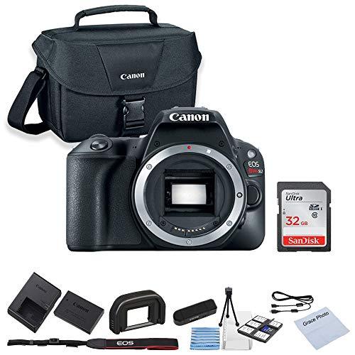 Canon EOS Rebel SL2 DSLR Camera (Body Only) + 32GB SanDisk Memory + Shoulder Bag + Camera Deluxe Starter Kit