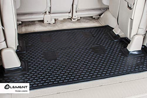 Element EXP.NLC.05.04.B11 Tailored Custom Fit Rubber Boot Liner Protector Mat-BMW Series 1 5D Hatchback 2004-2011 Black