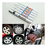 #10: Universal Waterproof Permanent Paint Marker Pen Car Tyre Tire Tread Rubber Metal (white)