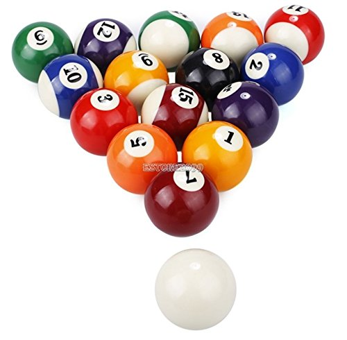 New Billiard Deluxe Pool Ball Set Standard Size 2-1/4'' Shipped In Padded Bag by Unknown