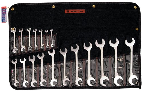 Wright Tool 732 Open End, Double Angle 15 and 60 Degrees (18-Piece)
