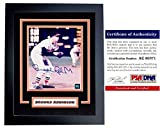 Brooks Robinson Signed - Autographed Baltimore Orioles 8x10 Photo - BLACK CUSTOM DELUXE FRAME - PSA/DNA Certificate of Authenticity (COA)