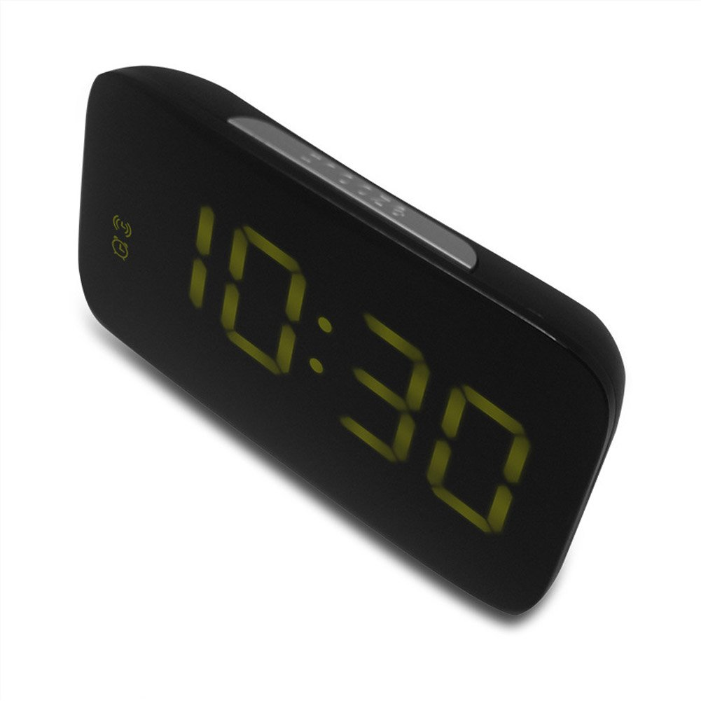 Hense Morning Clock,Acoustic Alarm,Soft Light That Wont Disturb and Save Power,Ascending Beeping for Gentle Wake