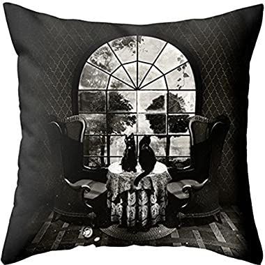 Yoler Pillow Case Decorative Skull Art Outdoor Sofa Cushion Satin Bright Colorful Painting Pillowcases