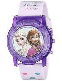 Disney FZN6000SR - Reloj de cuarzo analógico con visualización digital para niños, color rosado