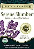 Lifestyle Awareness Teas, Caffeine Free Serene Slumber Tea, 20 Count