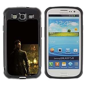 KEIZZ Cases / Samsung Galaxy S3 I9300 / Deusex Game / Robusto Prueba de choques Caso Billetera cubierta Shell Armor Funda Case Cover Slim Armor