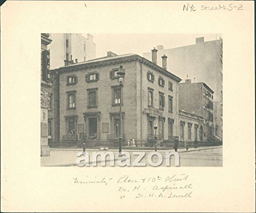 10th Place (Antique Photogravure University - Place and 10th Streets New York)