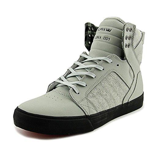 Supra Mens Skytop III Shoes Light Grey Plaid Black 1fsL07