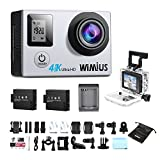 Action Camera 4K Dual Screen 16MP WIFI Sports Waterproof Camera WIMIUS Q4 (Silver)