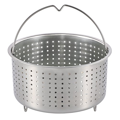 Aozita Steamer Basket for Instant Pot Accessories 3 Qt - Stainless Steel Steam Insert with Premium Handle for 3 Quart Pressure Cookers - Vegetables, Eggs, Meats, etc by Aozita