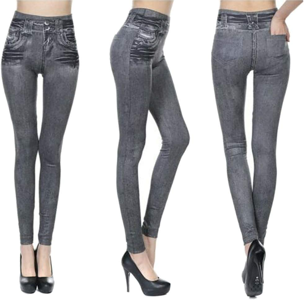 PerGrate 2019 Upgraded Stretch Slim Geans Blue And Gray Breathable for Autumn Party Ladies Jeans Women Jeans Leggings,Slim Stretchy High Waist Pants Black