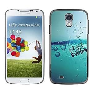 CASECO - Samsung Galaxy S4 - Water Splash - Delgado Negro Plástico caso cubierta Shell Armor Funda Case Cover - Agua Splash