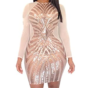 37. Pins Rose Gold Plus Size Bodycon Dress with Geometric Pattern