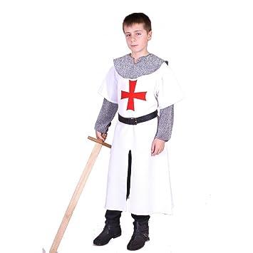 Traje medieval Templario niño: Amazon.es: Ropa y accesorios