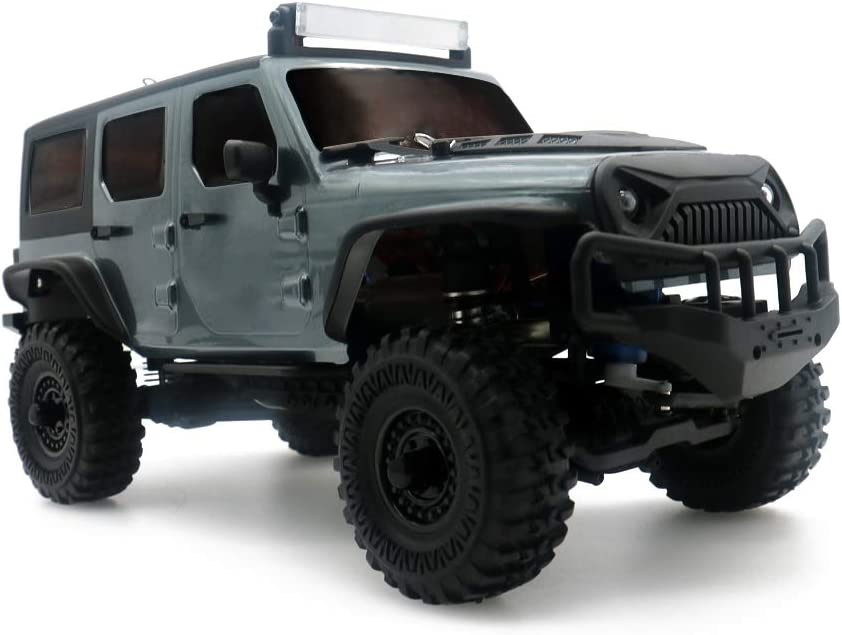 Panda Hobby Tetra X1 1//18 RTR Scale 4x4 Rock Crawler 4wd Off-Road Vehicle Gunmetal Grey