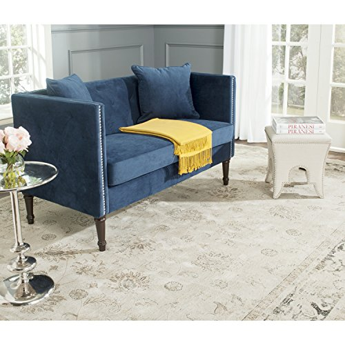 Safavieh Home Collection Sarah Navy and Espresso Sette