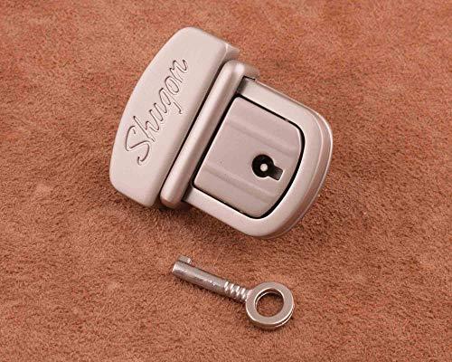 Square Rectangular Padlock Clasp Working Key Lock Leather craft 45*40mm Purse Bag Buckle Pet Collar Box Diary Wedding Repair gray Tone
