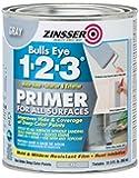Rust-Oleum 286258 Zinsser Bulls Eye 1-2-3 Primer, 31.5 oz, Gray - 4 Pack
