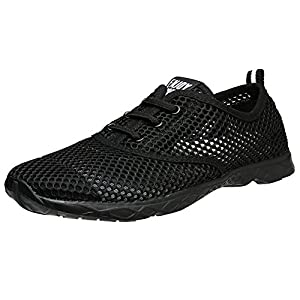 Aleader Men's Quick Drying Aqua Water Shoes Carbonblack 10.5 D(M) US