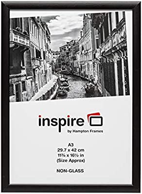 mm POSTER SIZE 420x297 BLACK PHOTO FRAME PICTURE FRAME WHITH MOUNT FOR A3