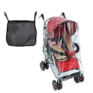 Tomkity protector para la lluvia para silla de paseo beb - Protector coche silla bebe ...