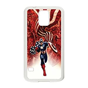 FOR Samsung Galaxy S5 -(DXJ PHONE CASE)-Super Hero Caption American-PATTERN 6
