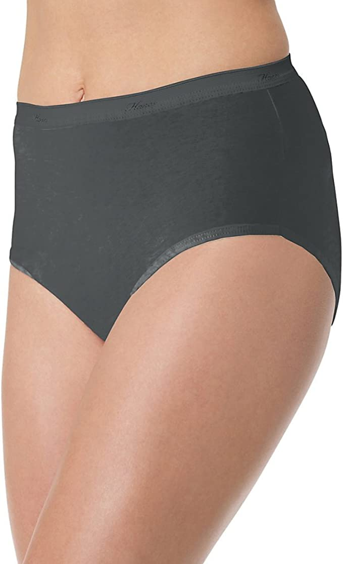 Hanes Women/'s Panties 6-Pack No Ride Up Cotton Brief Cut Underwear Cool Comfort