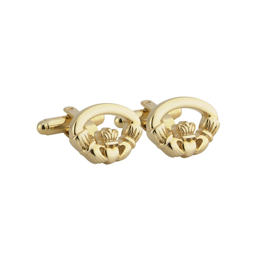 Celtic Cufflinks Claddagh Gold Plated Made in Ireland