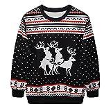 Snlydtan Girl Boy Christmas Boho Humping Reindeers Sweatshirt Clothing