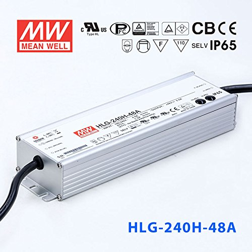 Meanwell HLG-240H-48A Power Supply - 240W 48V 5A - IP65 - Adjustable Output by MEAN WELL