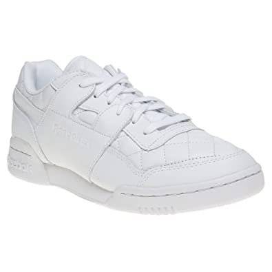 Reebok Workout Lo Plus Quilted Trainers White 7 UK  Amazon.co.uk ... 0fc983bcd