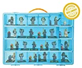 Toy Compatible Organizer - My Mini Figure Box The Perfect Storage Box- Stores Up to 30 Building blocks - Large Sturdy Case And Carrying Handle (Blue)