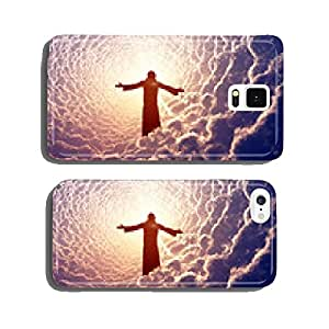 Jesus in the clouds. cell phone cover case Samsung S6