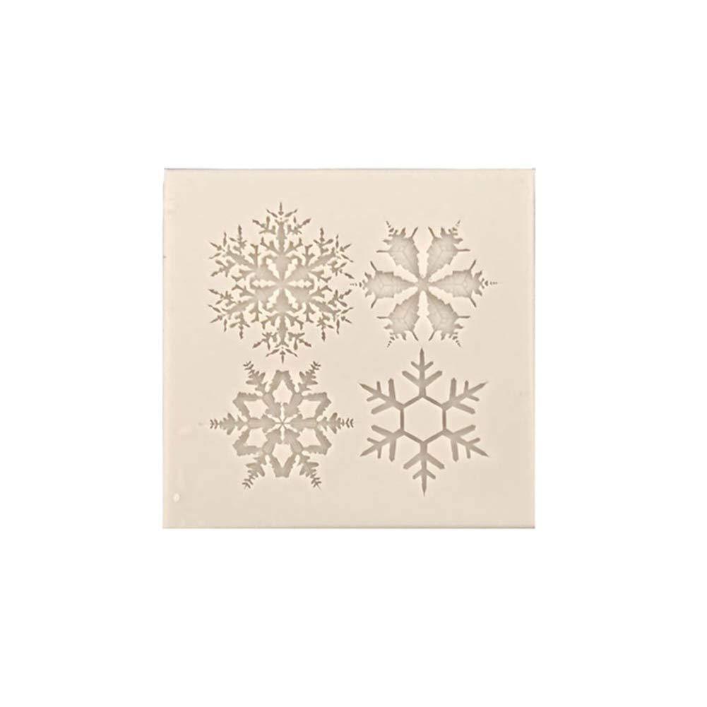 Slendima Christmas Snowflake Desgin Silicone Candy Fondant Cake Mold Clay Soap Mould DIY Decor Craft Tool