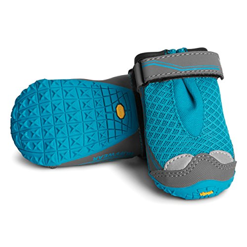 Ruffwear - Grip Trex, All-Terrain Paw Wear for Dogs, Blue Spring, 2.0 in (Set of 4) by Ruffwear