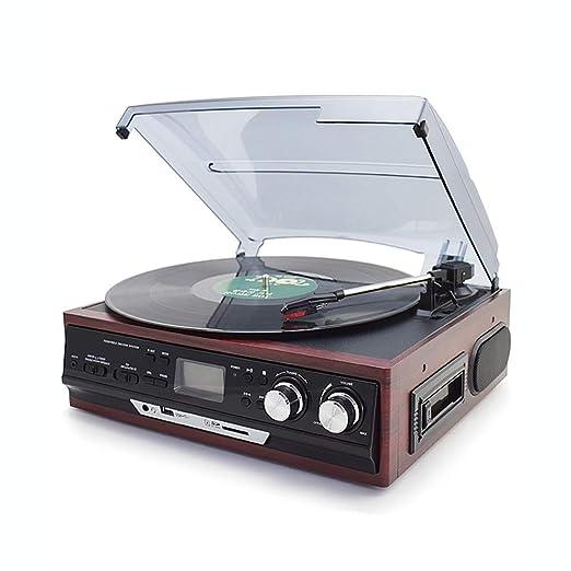SMLCTY Europea gramófono Retro, Moderno LP Tocadiscos, Disco de ...