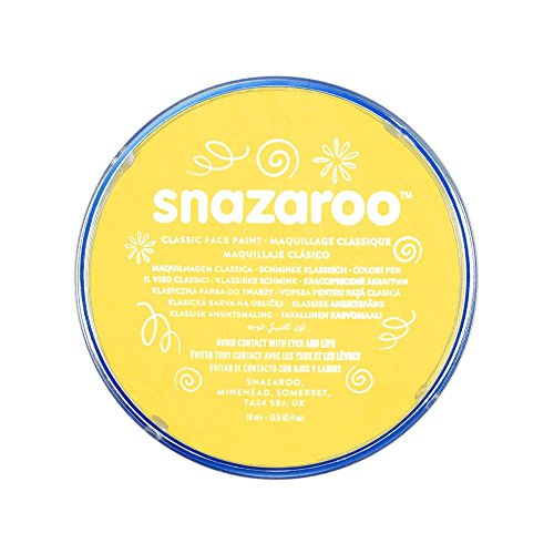 Snazaroo Classic Face Paint, 18ml, Bright Yellow -