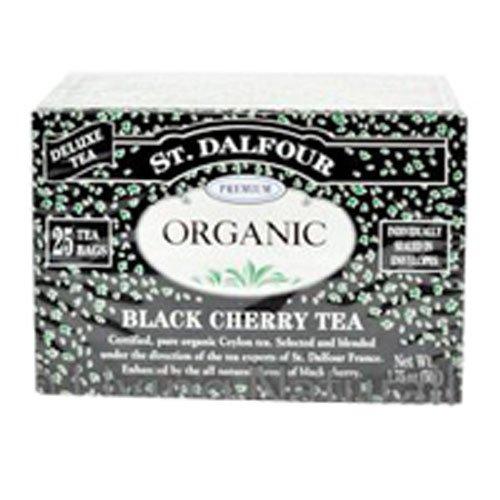 St Dalfour Black Cherry Tea (25 Individually Wrapped Tea Bags)