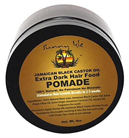 SUNNY isla Jamaica negro extra oscuro Pomade aceite de ricino, 4 oz ...