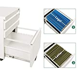DEVAISE 3 Drawer Mobile File Cabinet with