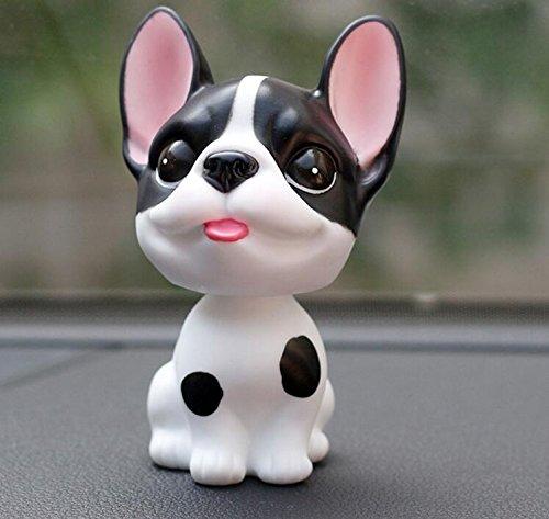 WWUUOOPRT Giocattoli pWWUUOOPRT Spielzeug für die Simulation Hund Auto Dekoration Cute Dog Schütteln Kopf Puppe Auto Ornamente (Farbe