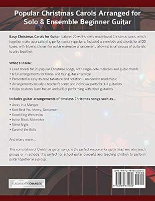 Easy Christmas Carols for Guitar: Popular Christmas Carols ...
