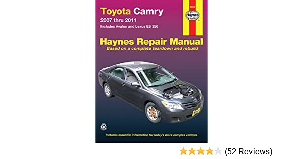 toyota camry avalon and lexus es 350 2007 2011 repair manual rh amazon com 2008 Toyota Avalon 2000 Toyota Avalon Black