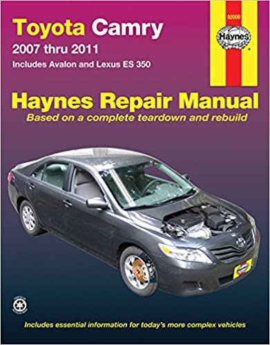 Toyota camry avalon and lexus es 350 2007 2011 repair manual toyota camry avalon and lexus es 350 2007 2011 repair manual haynes repair manual 1st edition fandeluxe Choice Image