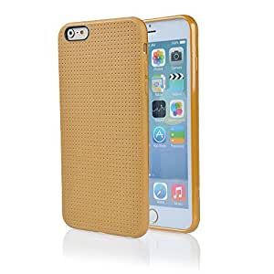 AYAMAYA Guardian Series Slim Fit Grid Pattern Design TPU Case for Apple iphone 6 plus (5.5inch) - Gold
