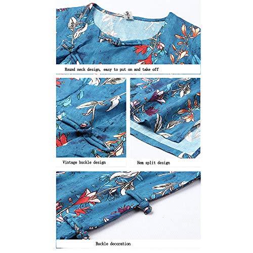 end Blue Di E t Primavera Decorazione Cheongsam Sottile High xxl Letterario Corpo Lino Blue Vestito Cheongsam Autunno y q1EwZxIB1